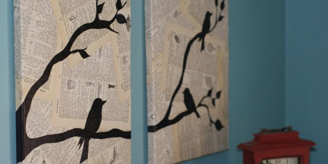 Quadro feito com jornal velho Passo a Passo | Decoração e Dicas