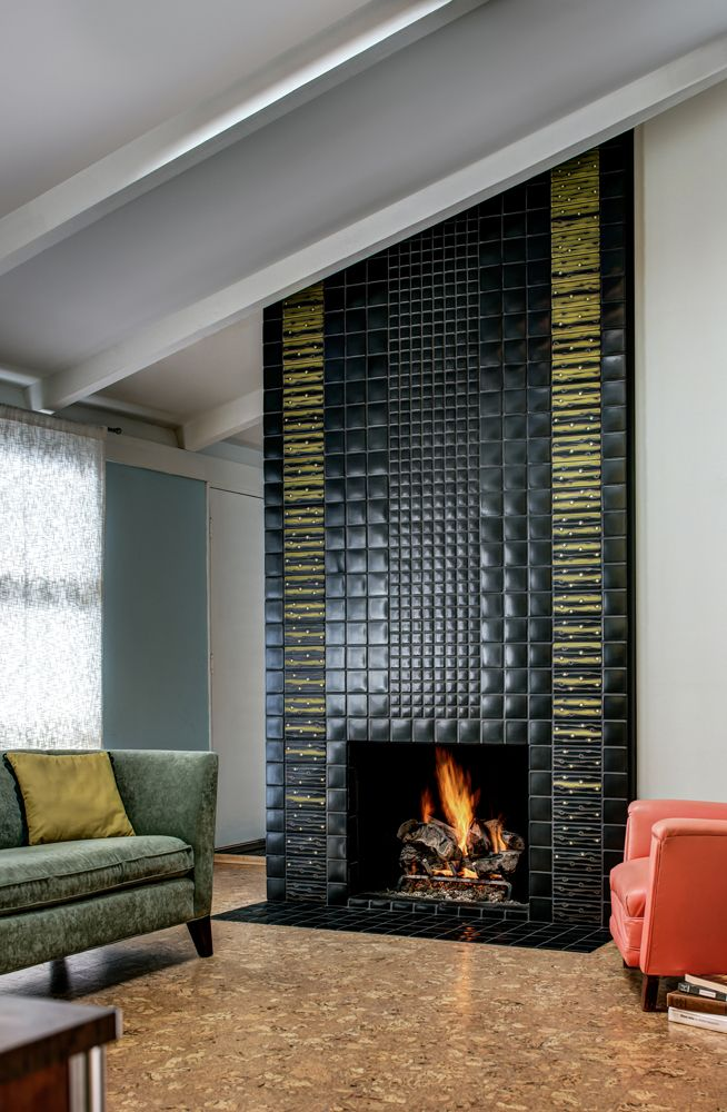 floor to ceiling fireplace designed with motawi tiles photo courtesy of motawi tileworksmaconochie photography - Fireplace Design Ideas With Tile