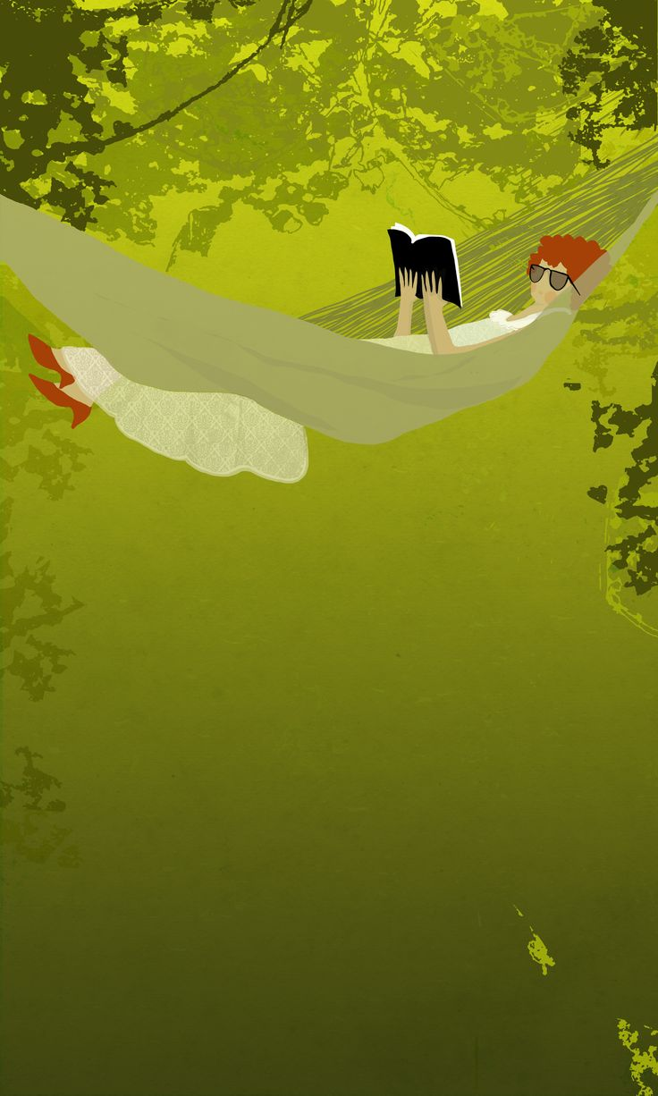 ilustracion para afiche feria del libro en el parque organizado por la cámara chilena del libro.