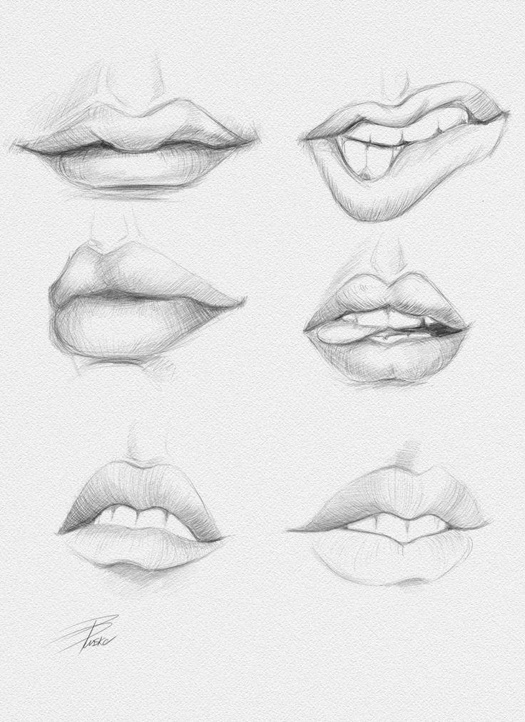 Labios En Movimiento Aprende A Dibujar Labios De Diferentes Formas Dibujos De Labios Como Dibujar Labios Arte Del Bosquejo
