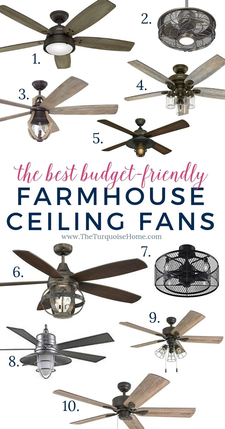 Farmhouse Ceiling Fans We Love The Turquoise Home Farmhouse Ceiling Fan Ceiling Fan Farm House Living Room
