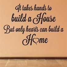 Wallsticker Only Hearts can build a Home - NiceWall.dk