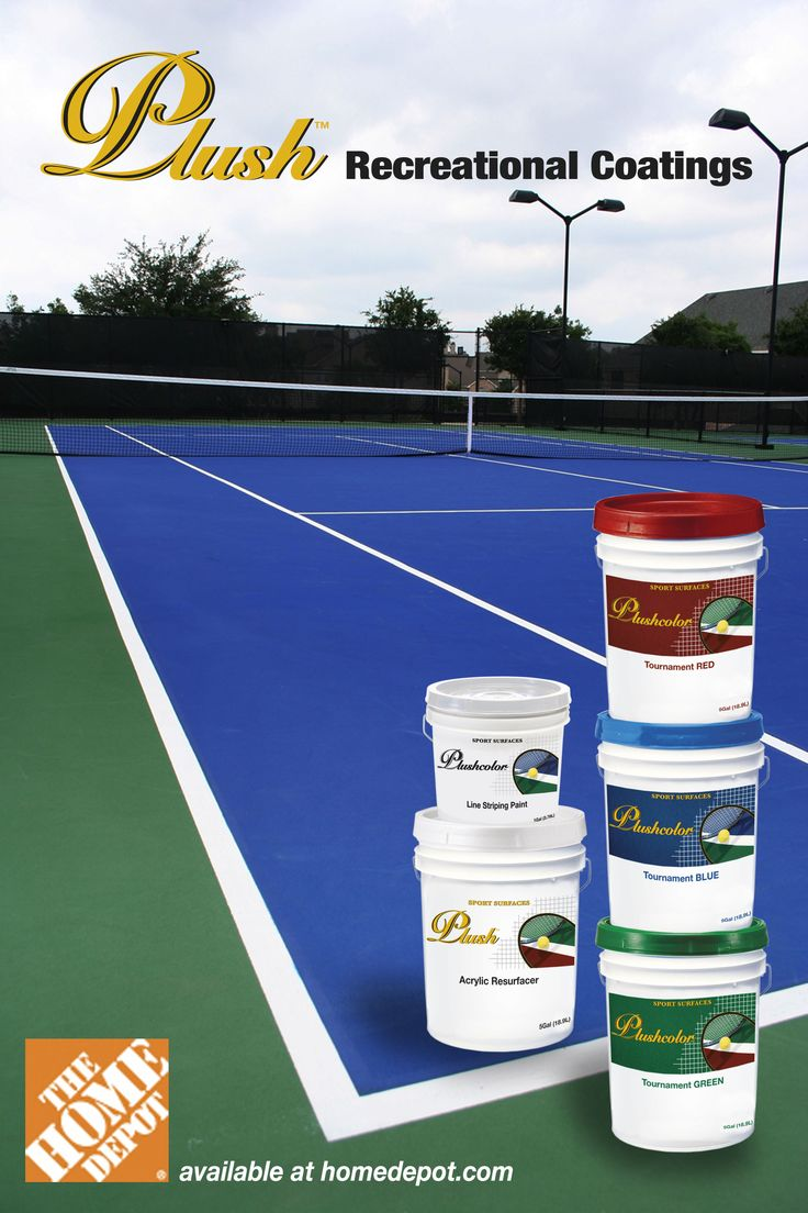 Need to resurface your basketball or tennis court? Home Depot has our full line of Plush Recreational coatings for you online!