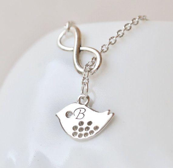 Dainty Personalized Infinity Necklace  by ArtemisBridalJewelry