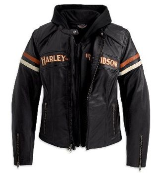 98142-09VW - Harley-Davidson® Womens Miss Enthusiast 3 In 1 Black Leather Jacket - Barnett Harley-Davidson®#.VM6loax0zcc#.VM6loax0zcc