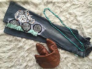 Ladies Denim Boho Jeans   eBay