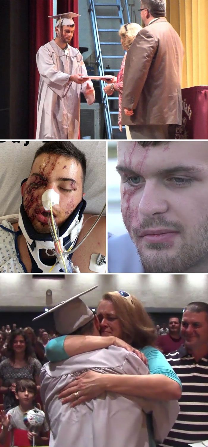 High School Students Recreates Graduation For A Friend Who Was In A Car Accident And Recently Woke Up From A Coma