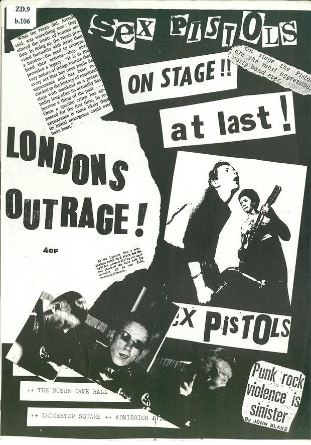 London's Outrage punk fanzine