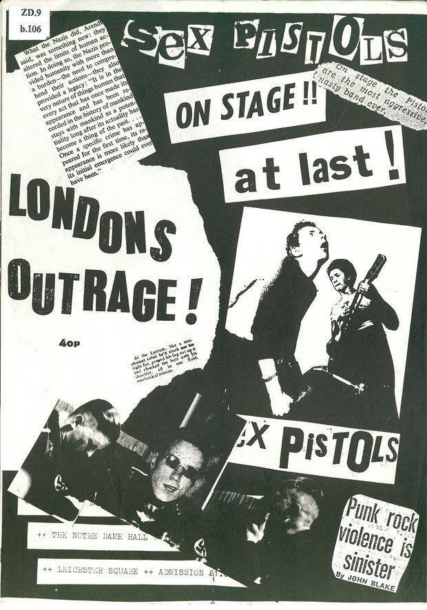 London's Outrage punk fanzine