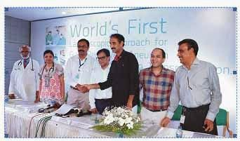 MIMS witnessed the world's first 3D Laparoscopic approach for giant renal vein aneurysm and successful auto transplantation