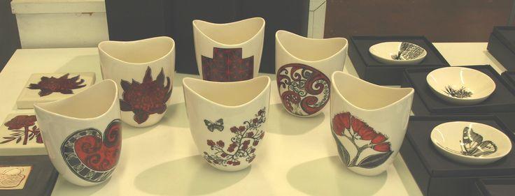 Ceramic vases by Jo Luping