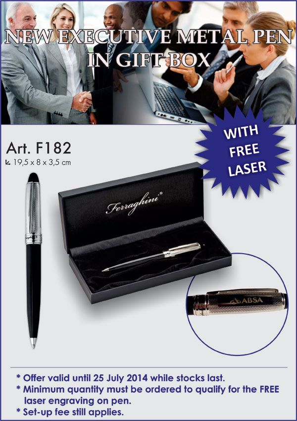 #MetalPens #ExecutiveGifting #BrandedGifting -Its a stylish one.  I'd go for it!  But then again I have a pen fetish!