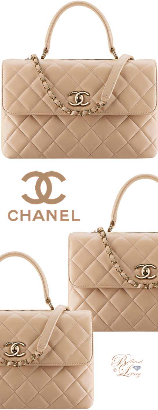 ♦ Chanel Flap Bag With Top Handle