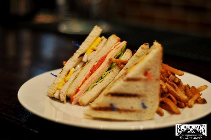 yummy Club Sandwich @Black Jack Pub