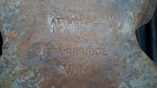 Attwood Stourbridge anvil markings