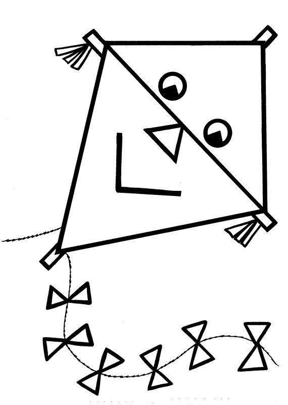 Desenhos para colorir Pipa para colorir Para crian as