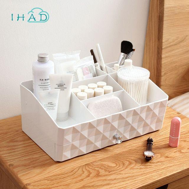 Double Layer Makeup Organizer Plastic Box Multi Use Drawer Box Jewelry Cosmetic Storage Box Home Small Items Jewelry Box C Hranenie Kosmetiki Hranenie Shkatulka