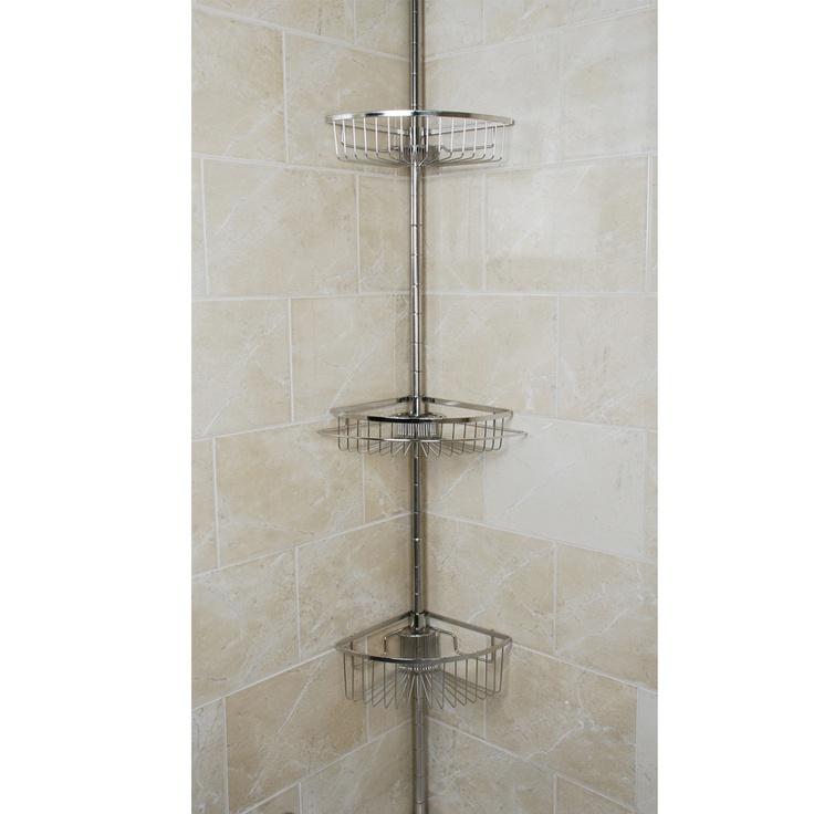 tension pole shower organizer stainless steel organizecom