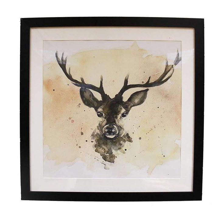 Stag Framed Print | Dunelm