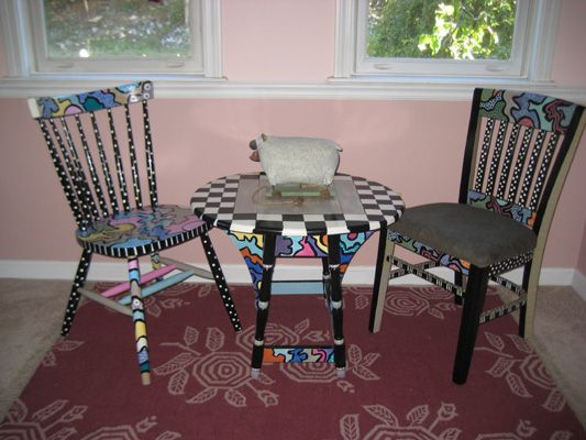Funky Hand Painted Furniture | Designed by Lainie: Funky Hand-Painted Furniture