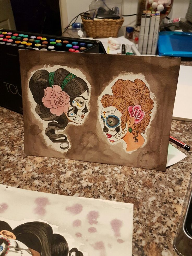 Day of the dead girl tattoo designs
