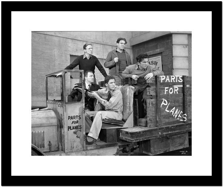 Dead End Kids Cast Member on a Truck in Black and White Premium Art Print