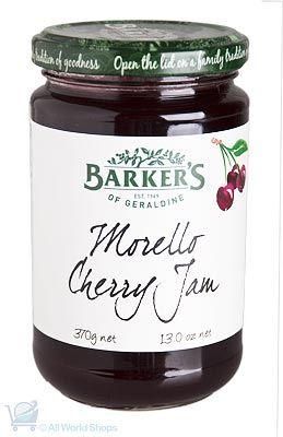 New Zealand Mozello Cherry Jam - Barkers - 370g | Shop New Zealand