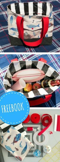 Kostenlose DIY-Anleitung: Picknicktasche selber Nähen - mit…