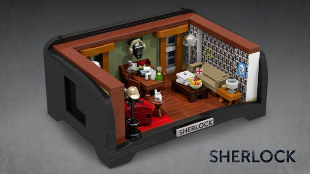 Sherlock and Watson will feel right at home in this replica of their 221B Baker home recreated in Lego.