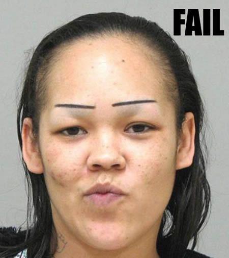 omg...LMAO!!  14 Hilarious Eyebrow Fails - Oddee.com (eyebrow, hilarious fails)