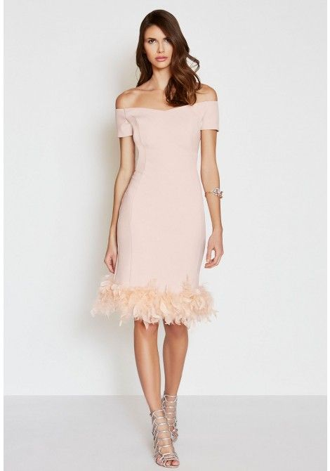 The LBD Margot Feather Dress