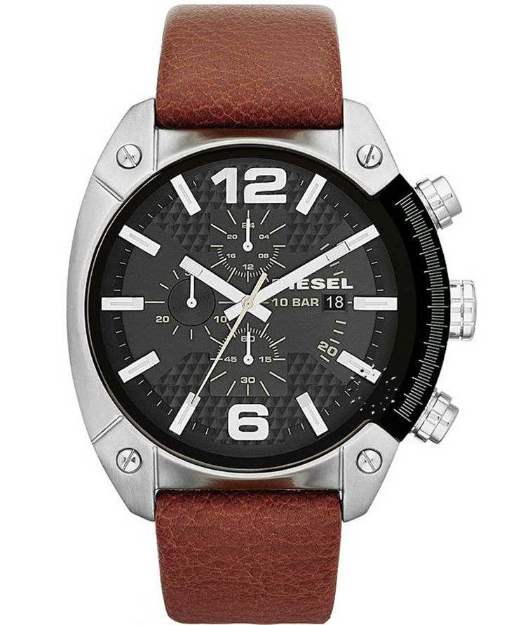 DIESEL Overflow Chrono Brown Leather Strap Η τιμή μας: 153€ http://www.oroloi.gr/product_info.php?products_id=35318