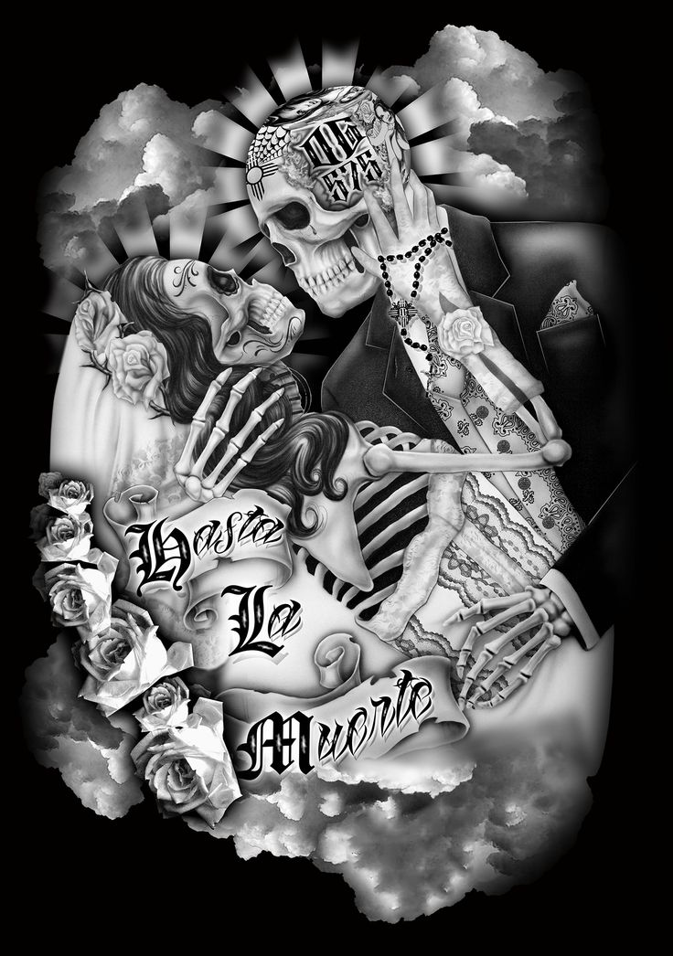 1000 images about chicano cholo lifestyle on pinterest for Skull love tattoos