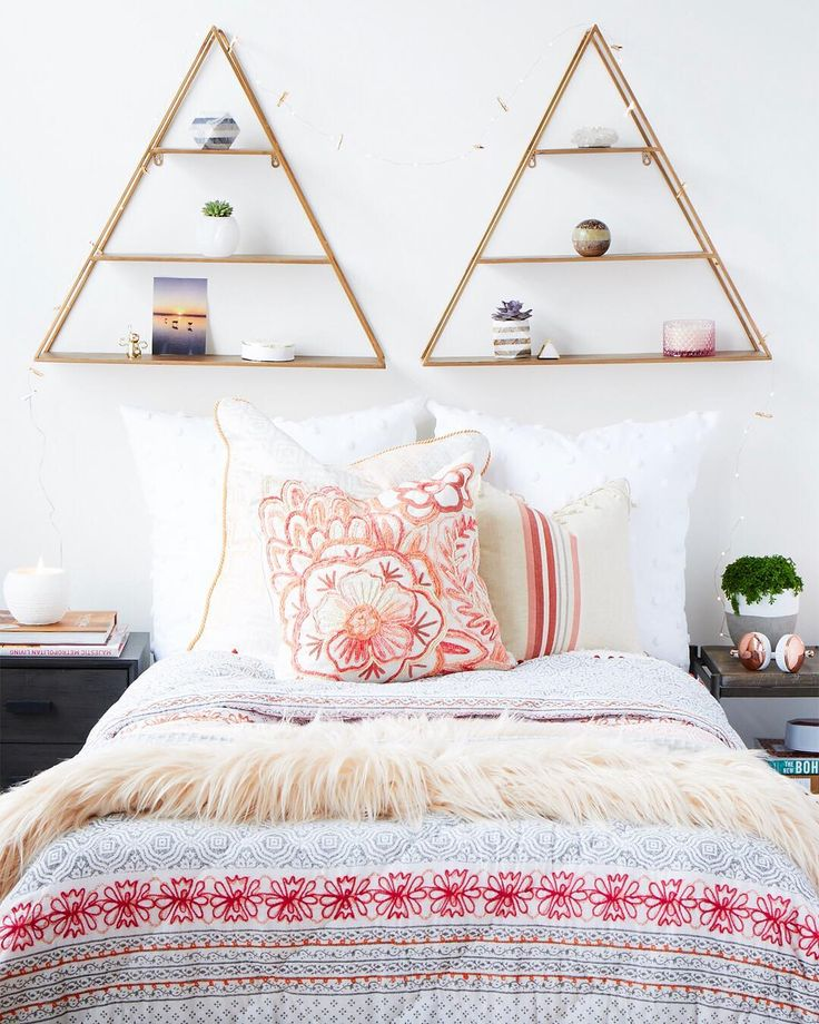No headboard? A couple #MyHomeSense decorative shelves are a practical and stylish way to create a focal point above the bed. The best part? Change up accessories as often as you wish for a fresh look.