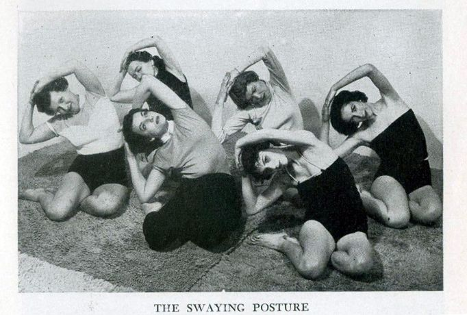 """Photo from the book """"Yoga for Americans"""" by Indra Devi, 1959."""