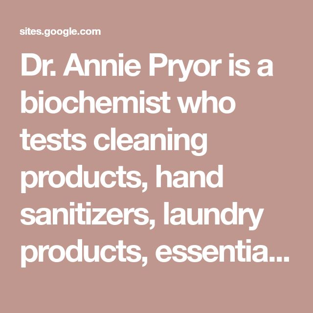 Dr Annie Pryor Is A Biochemist Who Tests Cleaning Products Hand