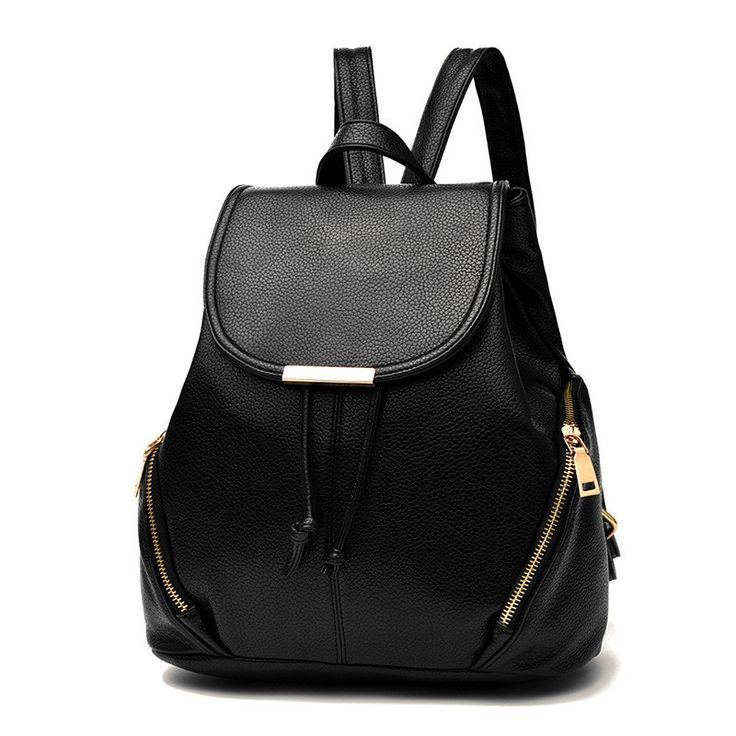 Backpack Women PU Leather Bag Mochila Feminina School Bags for Teenagers Free Shipping Teenagers Laptop Notebook Black White