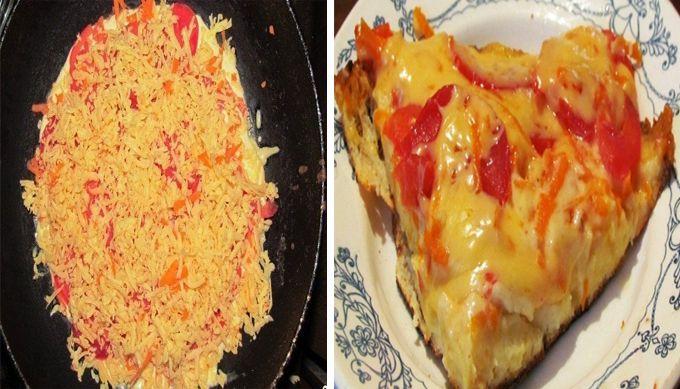 Pizza za 5mnut z pánvičky.