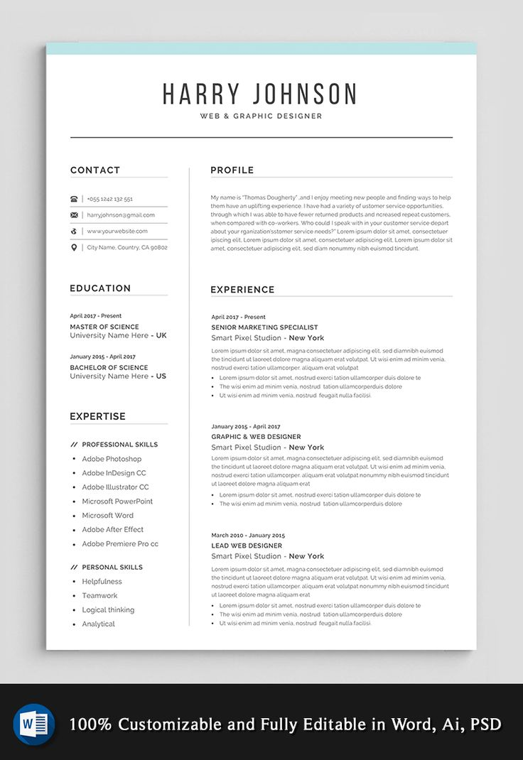 resume template modern  u0026 professional resume template for