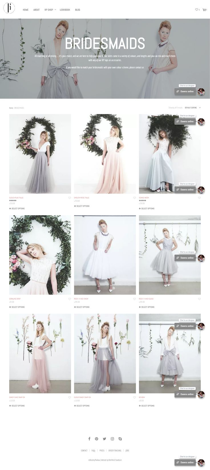 Lovely bridal site built with Shopkeeper Theme for WordPress: rasberypavlova.com. https://themeforest.net/item/shopkeeper-ecommerce-wp-theme-for-woocommerce/9553045?utm_source=pinterest.com&utm_medium=social&utm_content=rasbery-pavlova&utm_campaign=showcase #wordpress #webdesign #UX #bridal #onlineshop