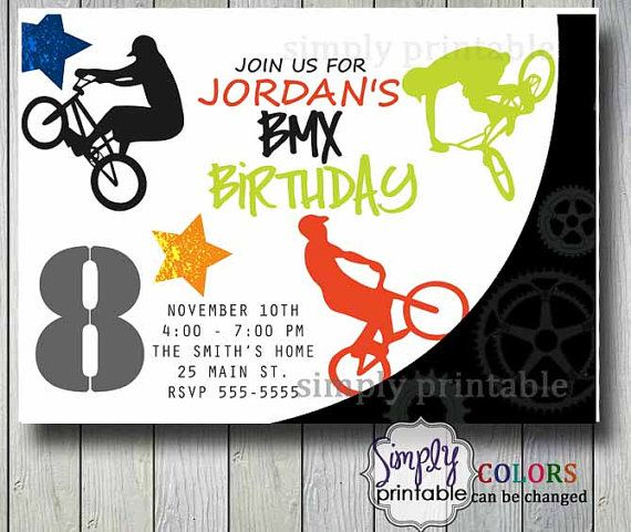 boy bmx birthday party - Google Search