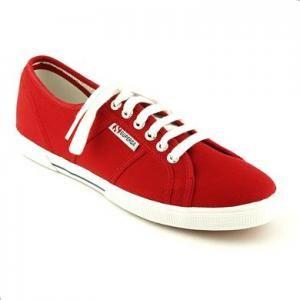 Promotie Pantofi sport Superga din canvas, culoare rosu