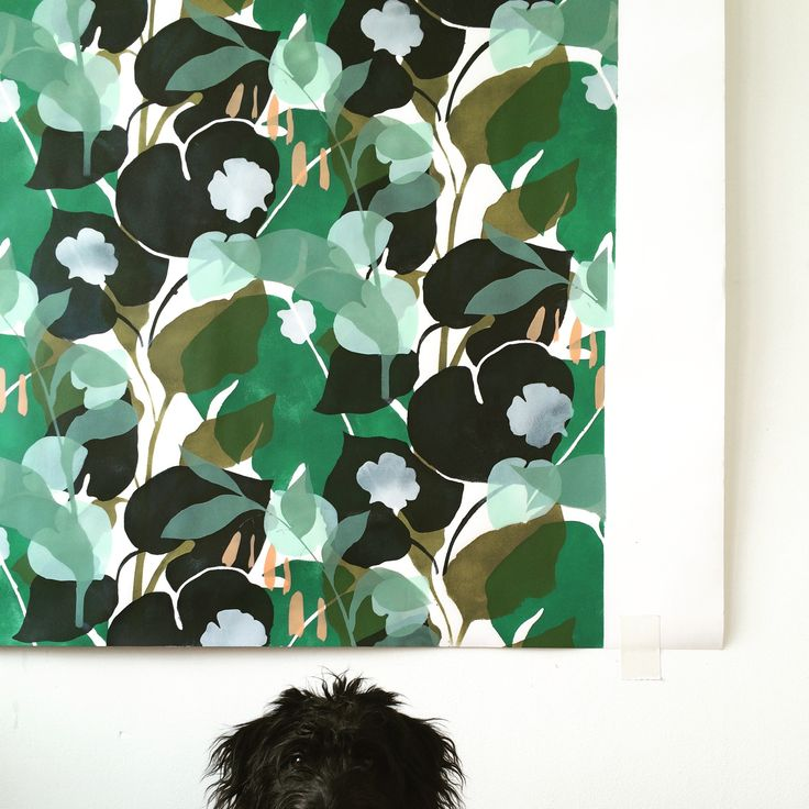 flowers on the wall, Lotte Dirks