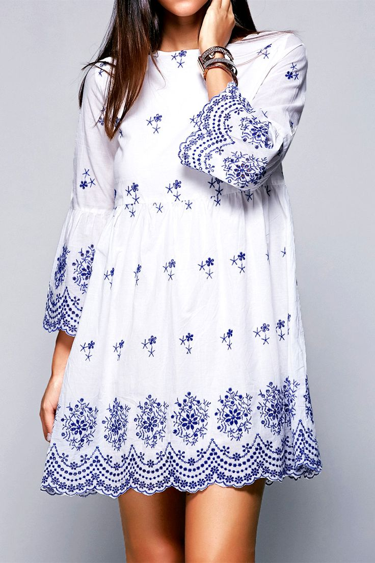 Embroidery dresses images