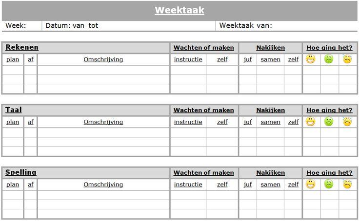 Weektaak | www.nazia.nl – De klas enzo…