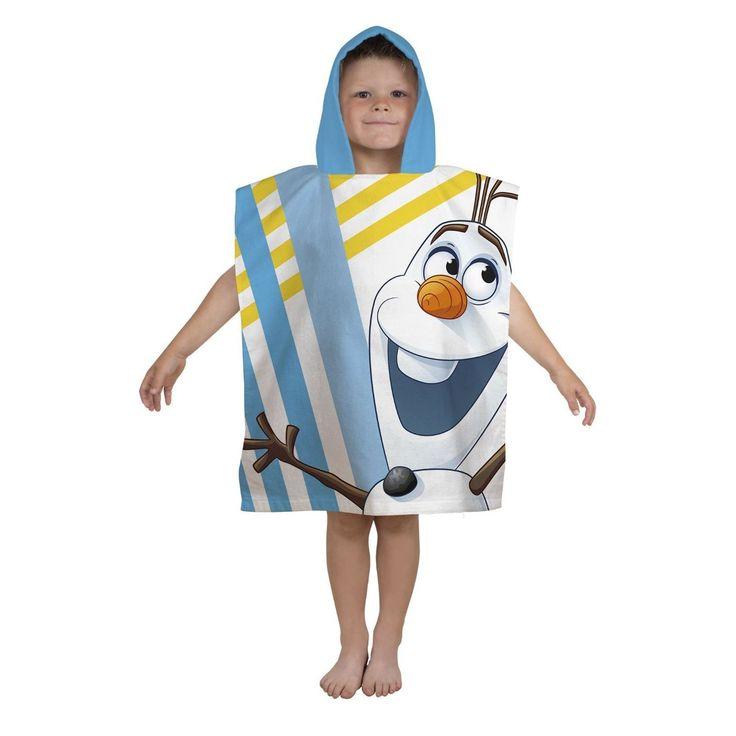 Attractive Serviette De Bain Avec Capuche #14: Poncho De Bain Avec Capuche Reine Des Neiges (Frozen) Olaf