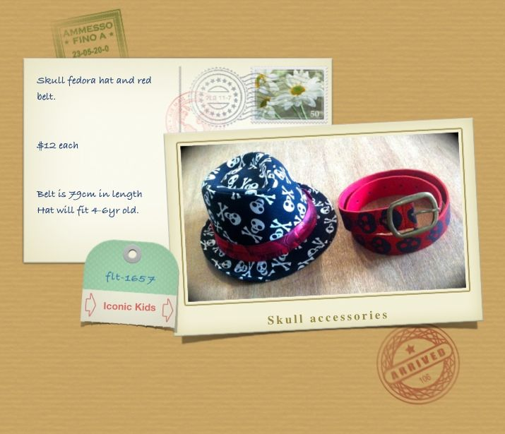 skull hat and belt