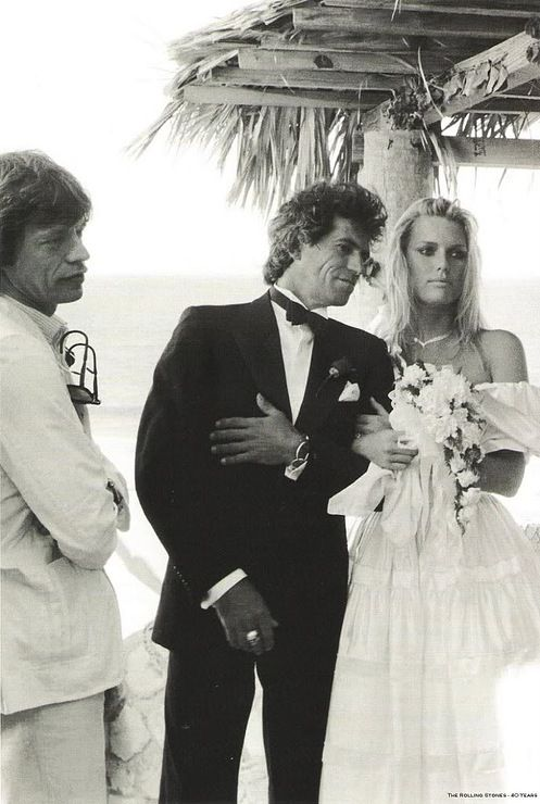 Mick Jagger, Keith Richards & Patti Hansen: here's to staying married (Keith & Patti, that is ...)