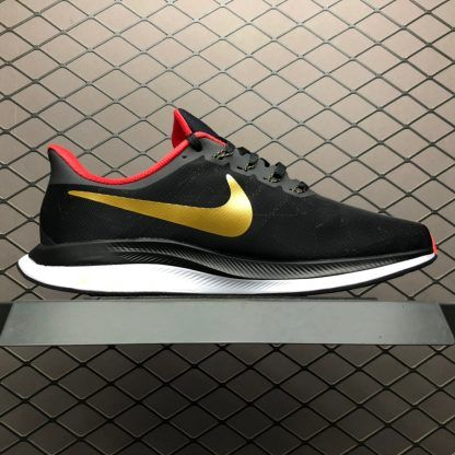 hot sale online 72a5d f5c03 Nike Zoom Pegasus 35 Turbo Black Red Gold Running Shoes BV6656-016-3