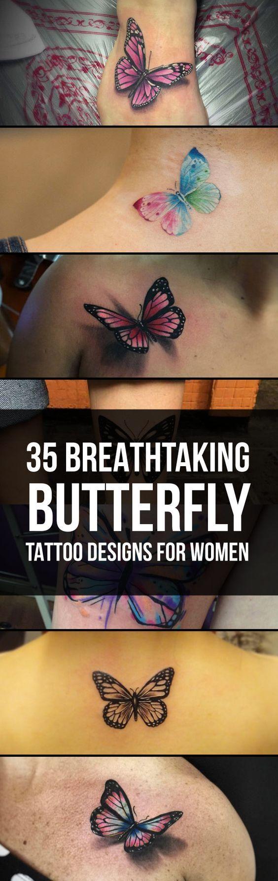 Breathtaking Butterfly Tattoo Designs | TattooBlend
